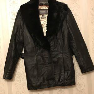 Willson leather coat 🧥 black